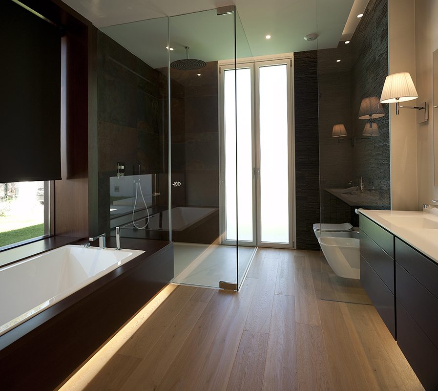 Espa ol tendencias en ba os 2015 la naturalidad y el for Contemporary bathrooms 2015