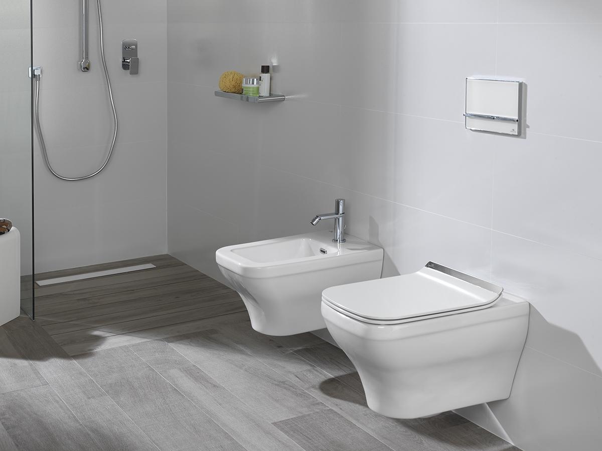 Accesorios De Baño Noken:Sanitarios suspendidos para baños en los que cada centímetro cuenta