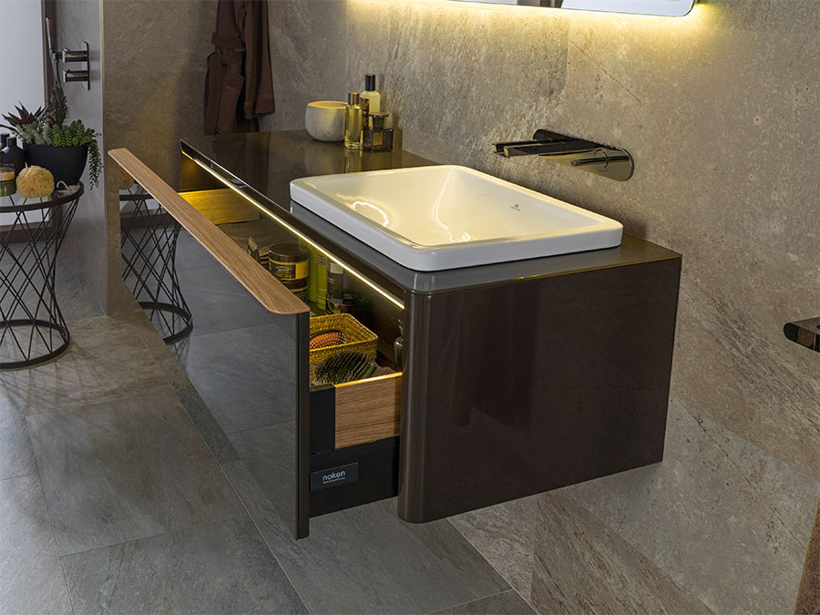 Cersaie 2015 best in bathroom design la nature - Meuble salle de bain porcelanosa ...