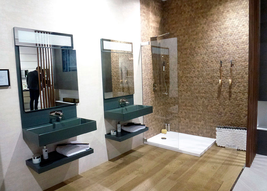 Cersaie 2015 noken seduces in bologna with the most for Porcelanosa bathroom designs