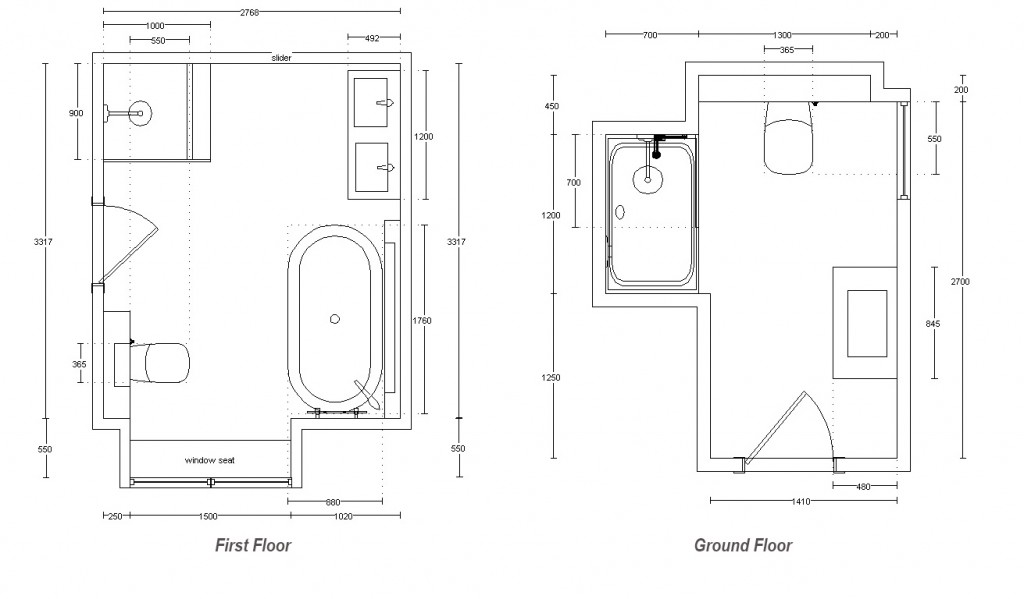 First and Ground Floor Shower Room Plano Noken Bathroom equipment