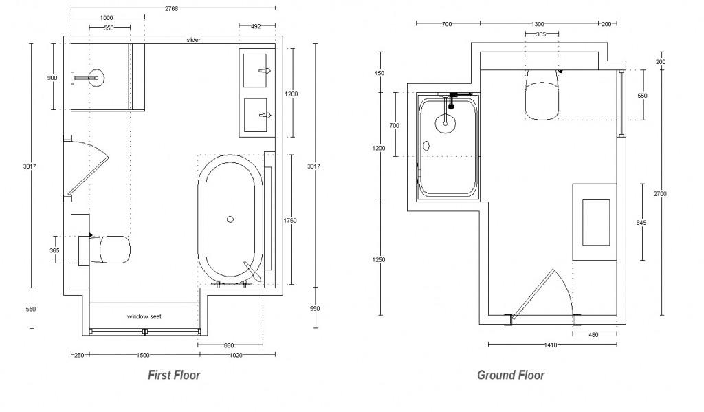 First and Ground Floor Shower Room Plano Noken Bathroom equipment