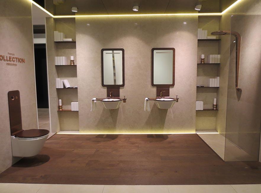 Xxiii muestra porcelanosa grupo lujo y esencia premium en for Modele de salle de bain avec douche al italienne