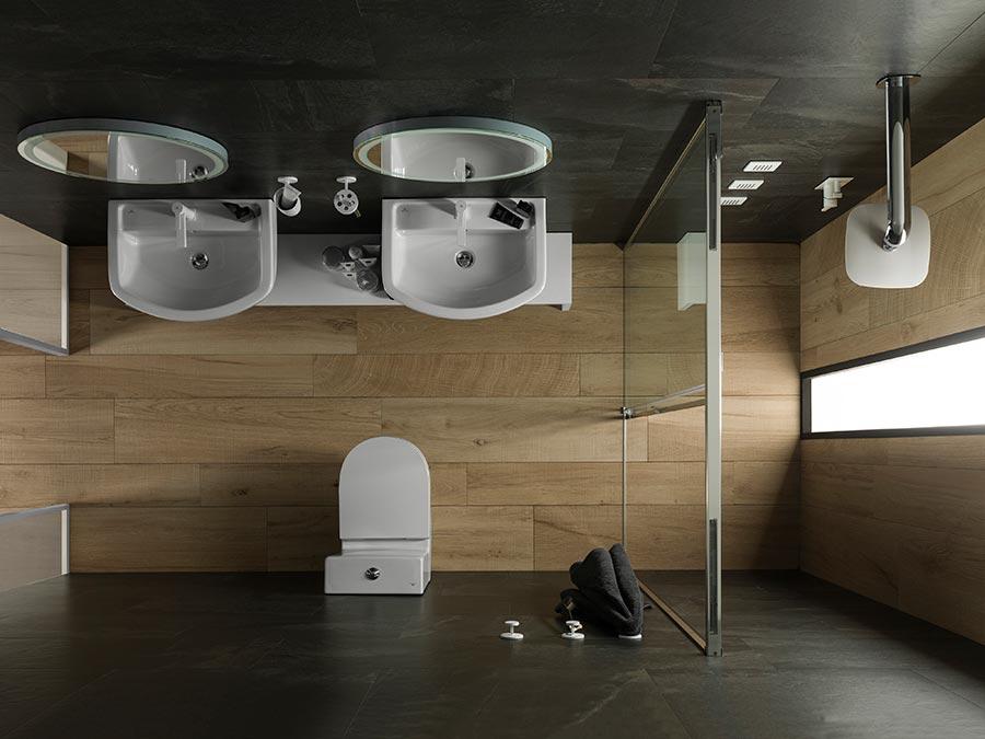 salles de bain compactes comment agrandir visuellement sa salle de bain. Black Bedroom Furniture Sets. Home Design Ideas