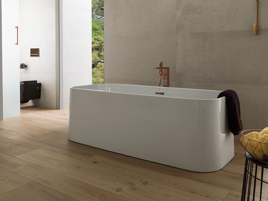 noken banera exenta lounge square porcelanosa bathrooms
