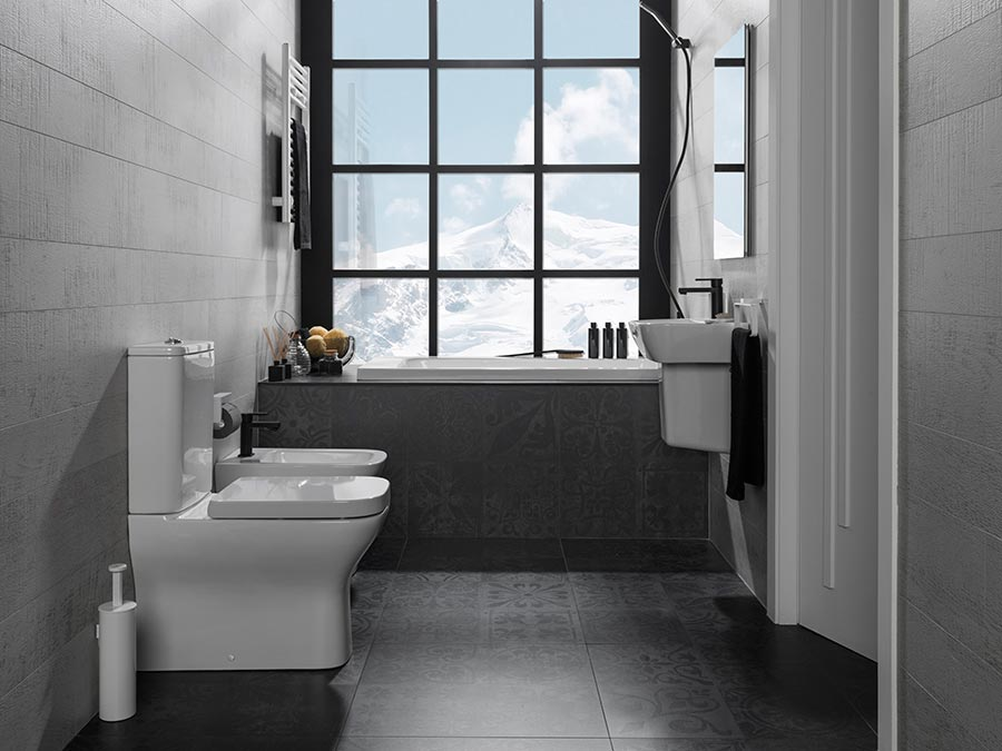 Urban c contemporary bathrooms where every centimetre counts for Banos de porcelanosa