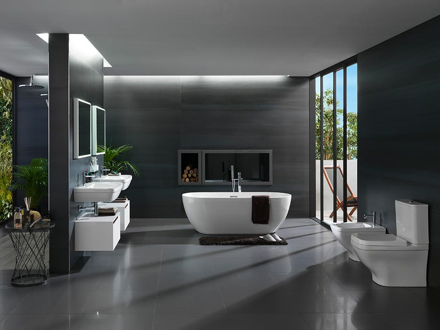 Bathrooms with views when the exterior landscape - Como decorar banos ...