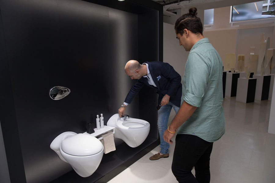 vitae and bathroom design  the natural inspiration by zaha hadid arrives in london
