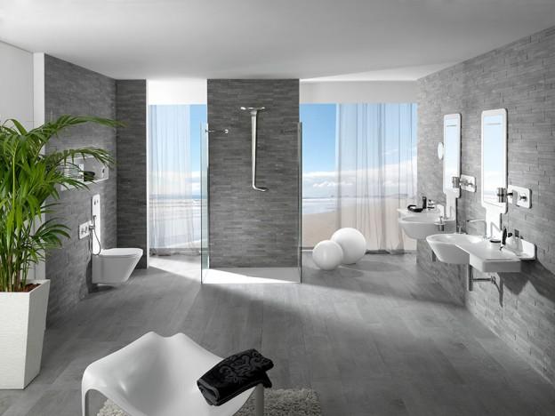 Badezimmer mit sommerlichem Flair. Design und Funktionalität in ...