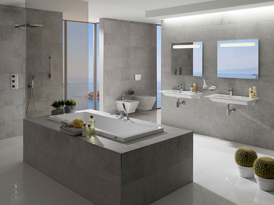 Geometric Simplicity Extend Your Bathroom Design With The