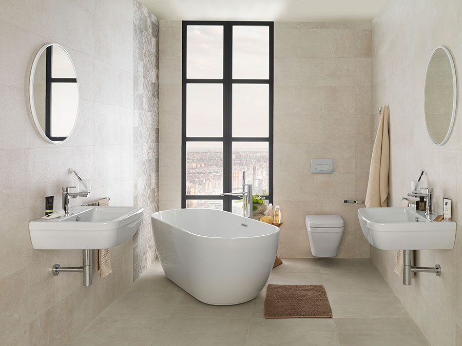 How to decorate an urban bathroom minimalism and light to for Urban bathroom ideas