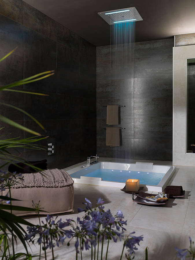 Wellness showers revitalising bathrooms solutions - Porcelanosa banos outlet ...