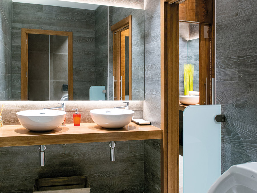 The lakasa restaurant cozy bathrooms to delight the senses - Banos porcelanosa 2017 ...