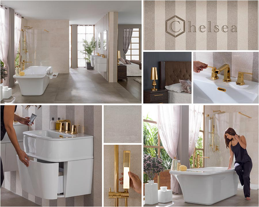 Porcelanosa Bathrooms Noken Chelsea Collection