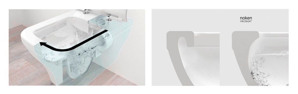 rimless toilet vs traditional toilet