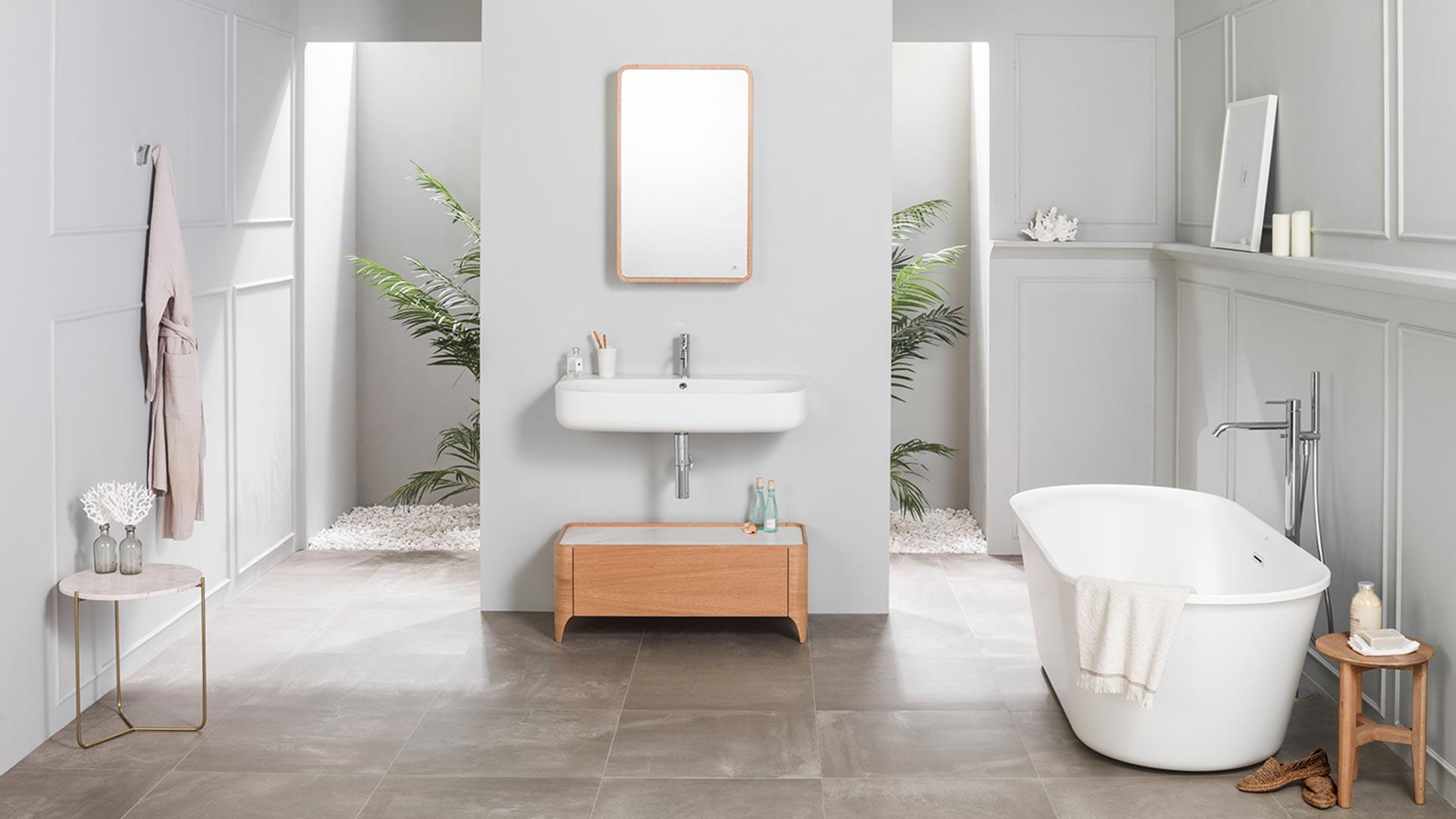 Cersaie 2017 new bathroom furniture nature and frame - Muebles para sanitarios ...