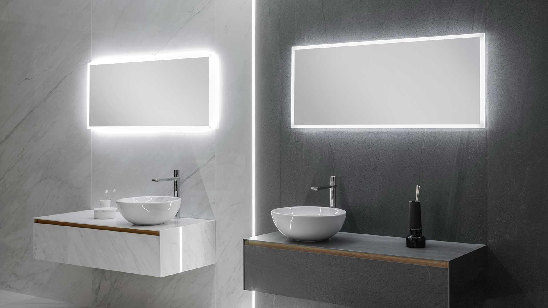 C mo elegir el espejo de ba o 4 propuestas para 4 ba os for Espejos para banos con guardas